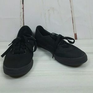 Vans Authentic Black/Black Men 4.5 Women 6